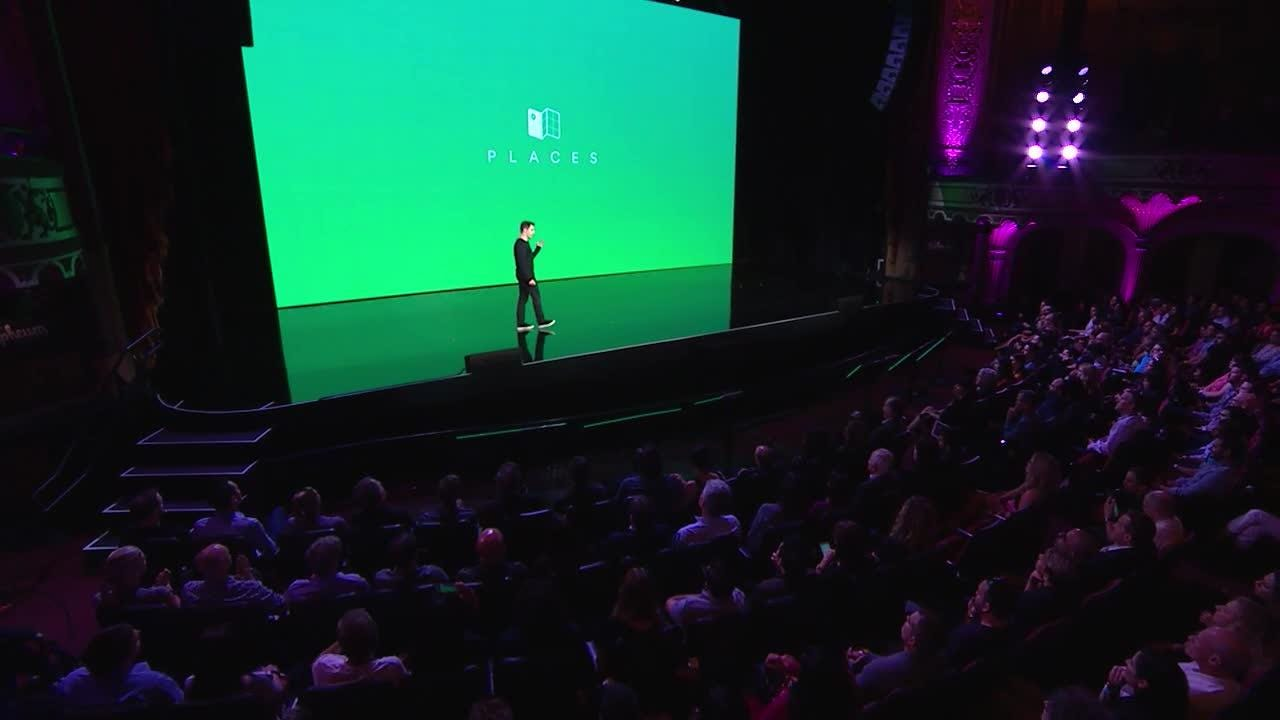 Airbnb shows off its new Trips program at the Airbnb Open 2016 event held in Los Angeles.