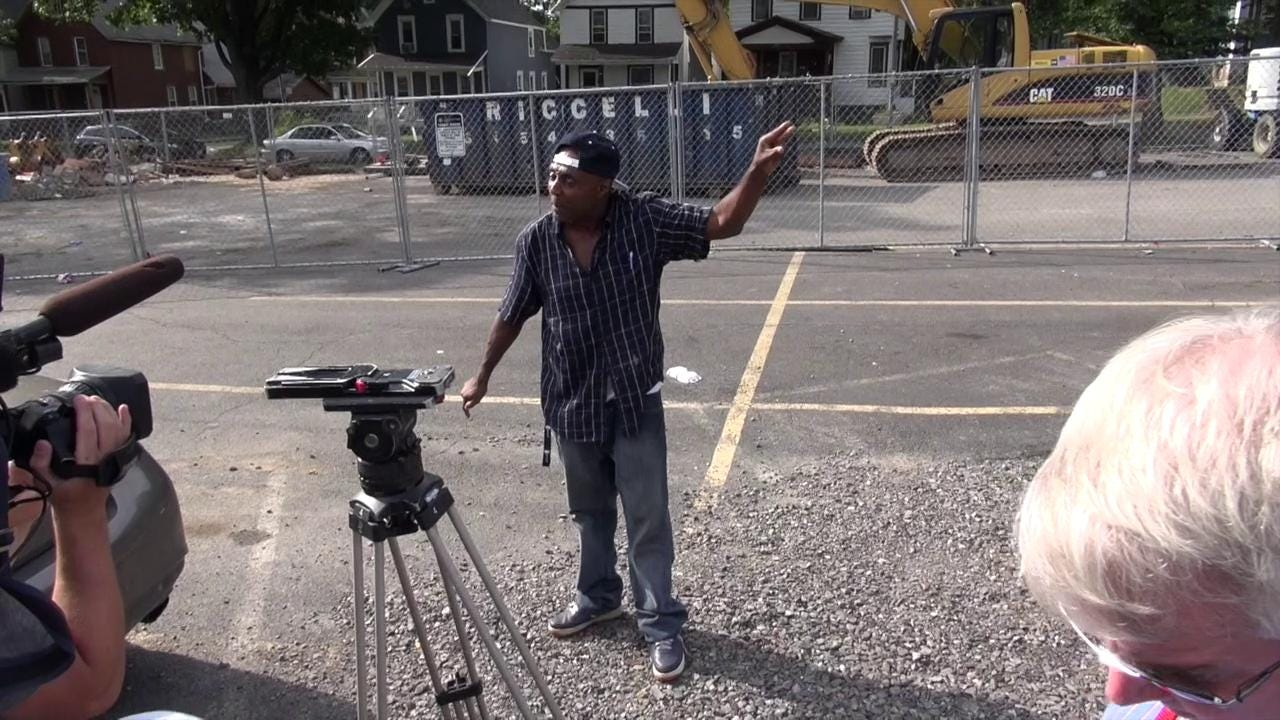 "Man interrupts Mayor Warren's presser; says ""black lives matter"""