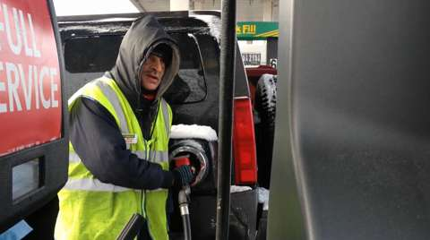 beloved gas station attendant sees business boom in winter weather