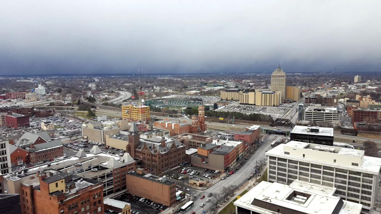 Time-lapse video of Rochester snow squall