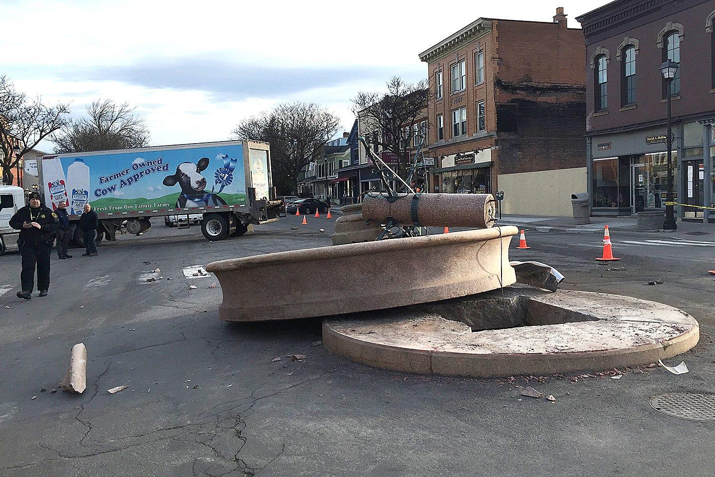geneseo's beloved bear statue is being repaired