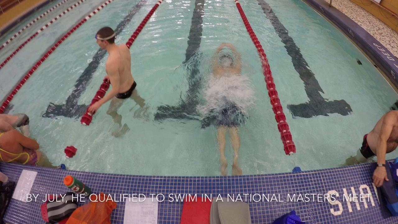 Prostate cancer leads swimmer back to pool