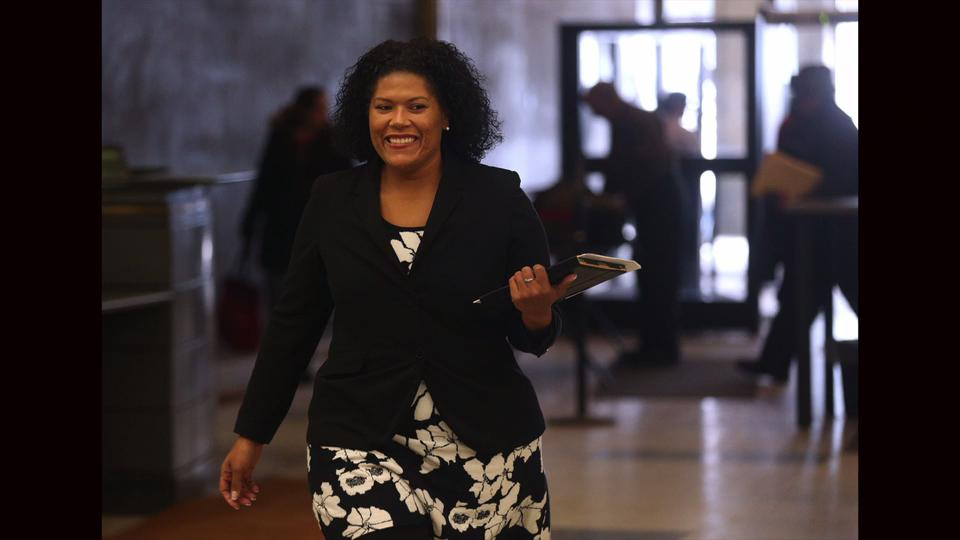 Judge Leticia Astacio appears in court to answer allegations