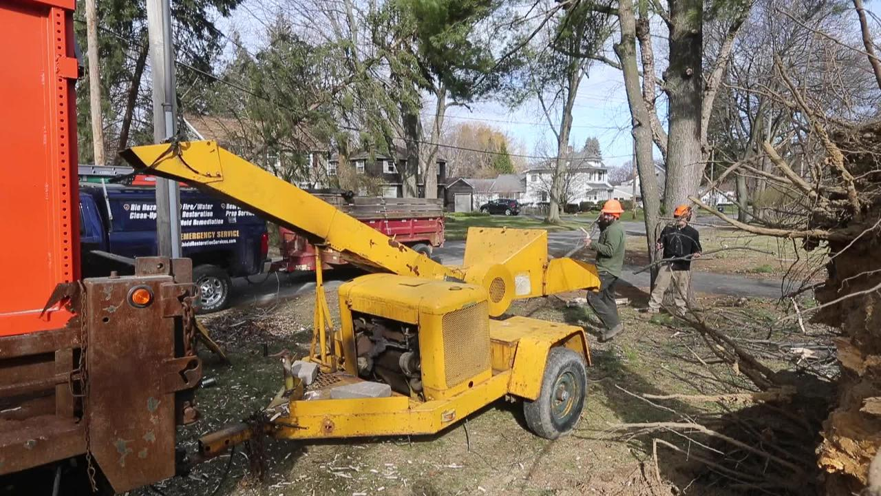 Sights, sounds of windstorm cleanup