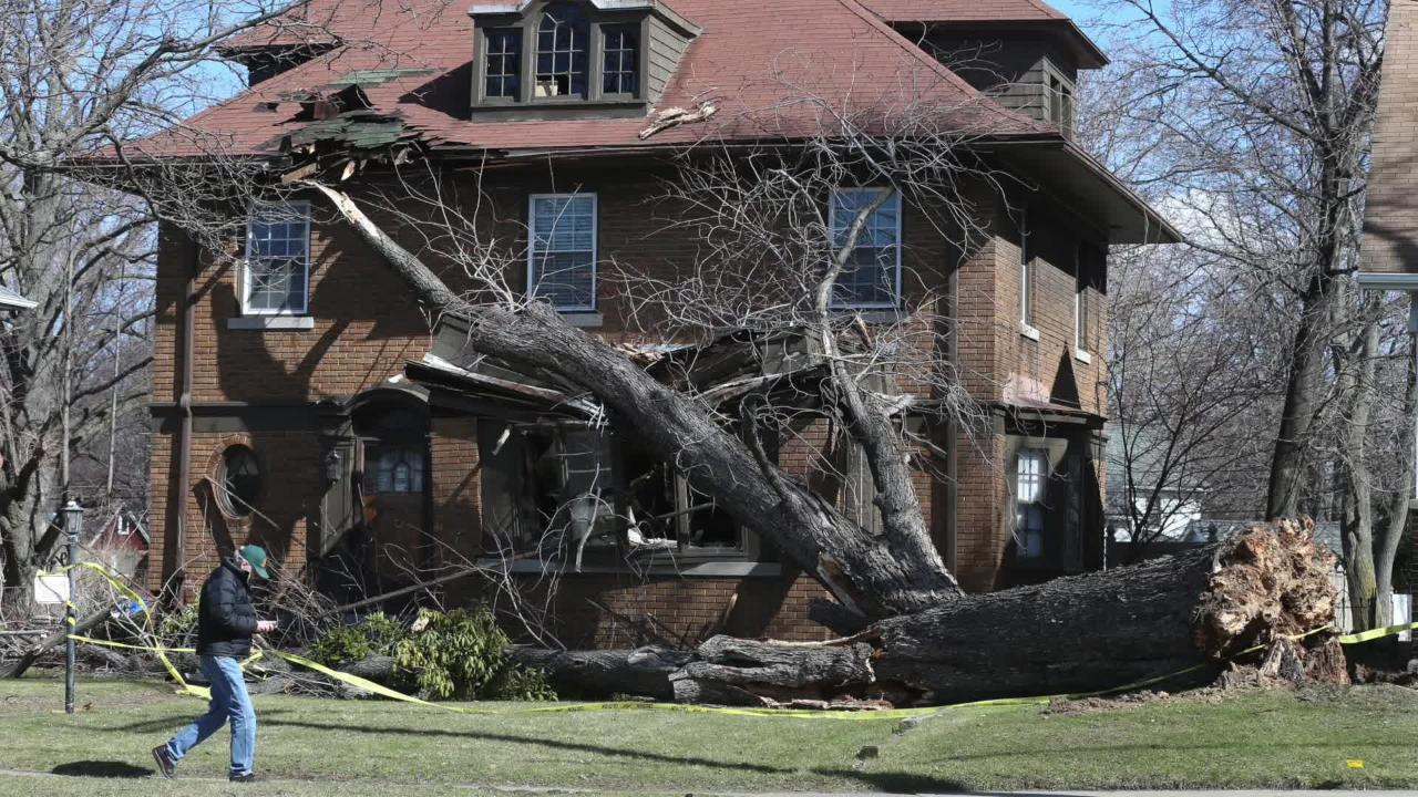 Wind storm whips Rochester
