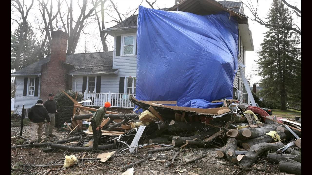 Tree crushes room minutes after child removed