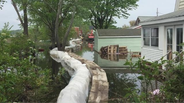 National Guard builds barrier around Round Pond