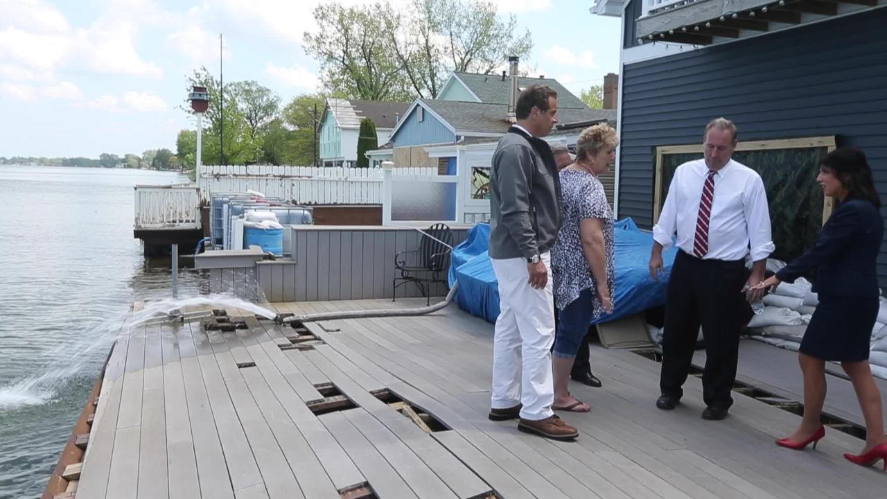 Cuomo discusses Lake Ontario flooding