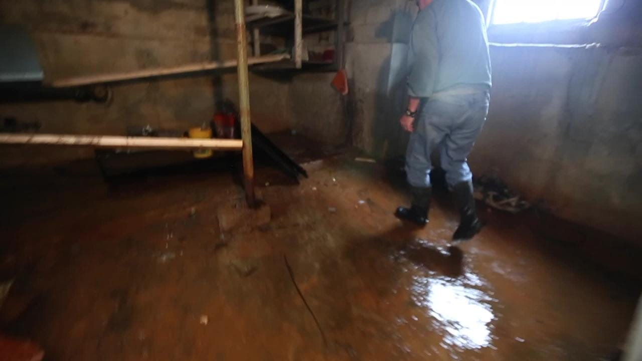 Greece home flooded