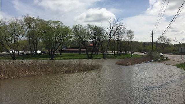 High water on Irondequoit Bay