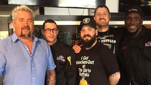 Diners, Drive-Ins and Dives' to feature a Newark native, a plate and on
