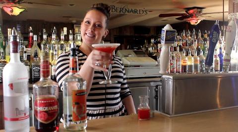 Bernard's Grove's pomegranate martini
