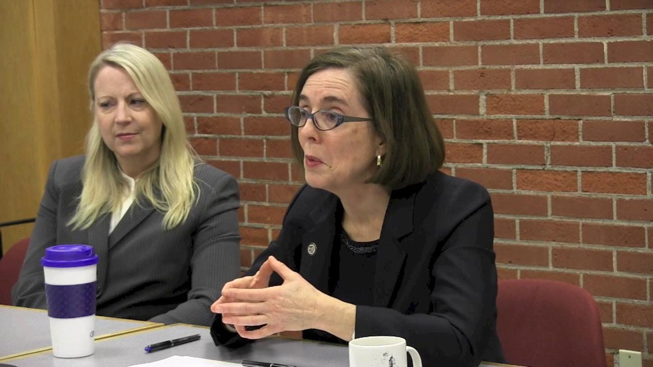 Governor Kate Brown meets with the editorial board Feb 4