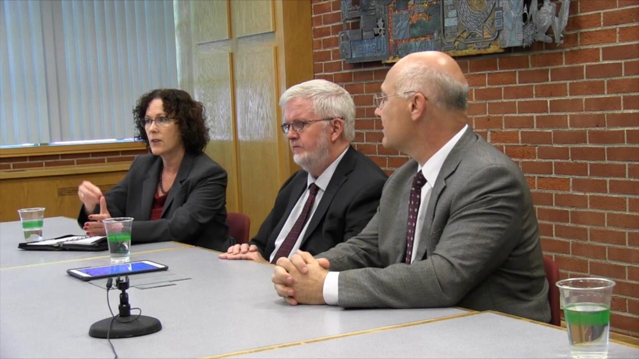 Democratic Secretary of State candidates Val Hoyle, Richard Devlin and Brad Avakian meet with the Statesman Journal Editorial Board on Tuesday, April 19, 2016.