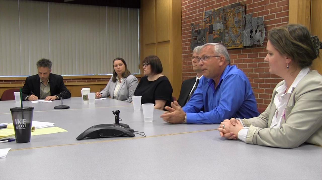 Salem City Council candidates Cara Kaser, Jan Kailuweit, Tiffany Partridge, Matt Ausec, Warren Bednarz and Sally Cook meet with the Statesman Journal Editorial Board on Thursday, April 21, 2016.