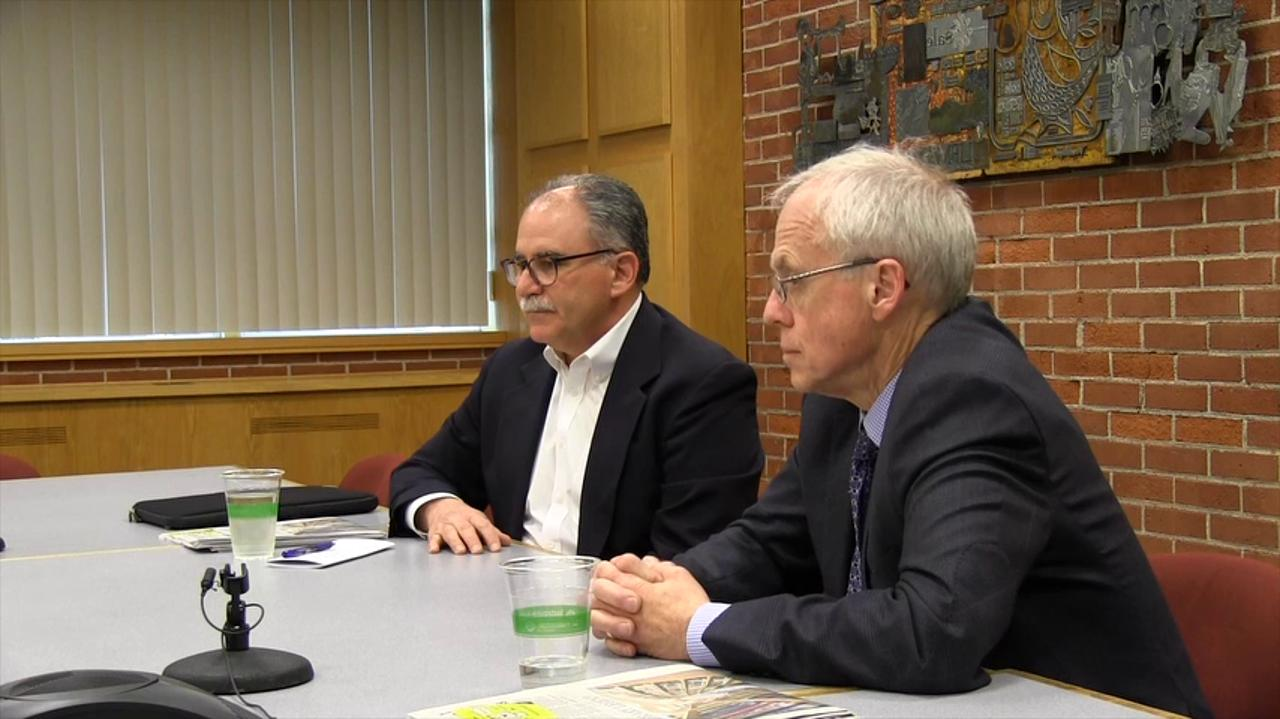 Republican governor candidates Bud Pierce and Allen Alley meet with the Statesman Journal Editorial Board on Wednesday, April 20, 2016.