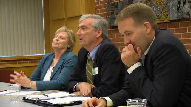 The Statesman Journal editorial board meets with Oregon State Treasurer candidates Jeff Gudman, Tobias Read and Chris Telfer on Wednesday, Sept. 28, 2016.