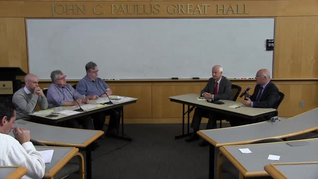 The Statesman Journal editorial board meets with Oregon Secretary of State candidates Dennis Richardson and Brad Avakian on Tuesday, Sept. 27, 2016.