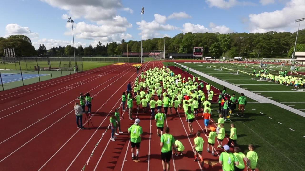 Runners from Pre-K all the through high school take part in the 2017 Awesome 3000 at McCulloch Stadium on Saturday, May 6, 2017.