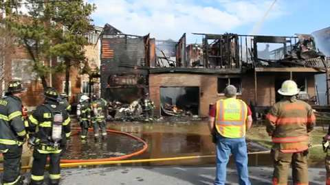 Fire rips through waterfront home in Selbyville