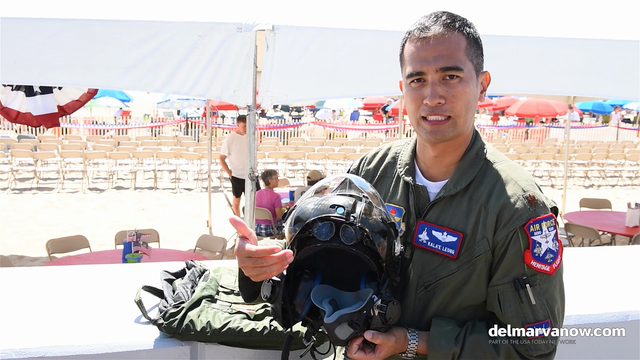 WATCH: U.S. Air Force Pilot talks about his state of the art helmet