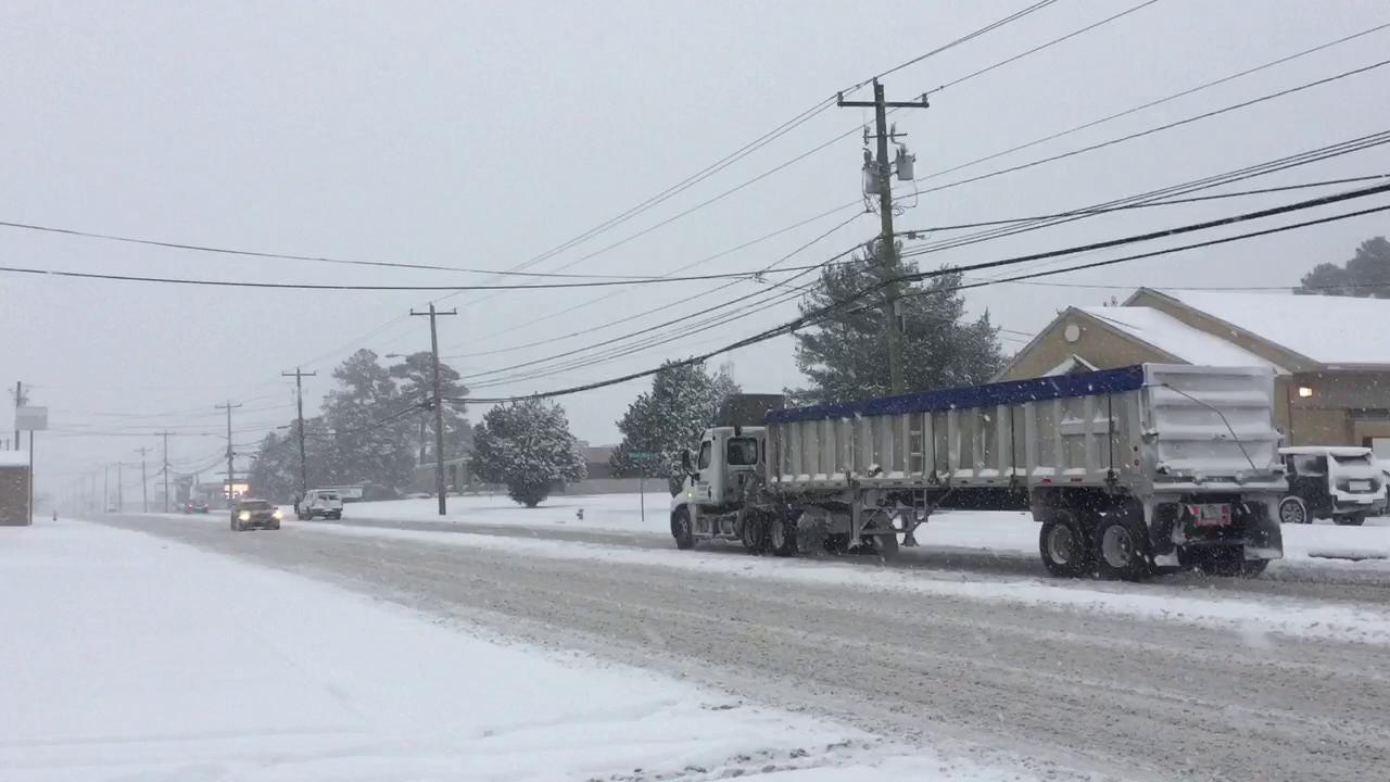 WATCH: Snow scenes in Salisbury
