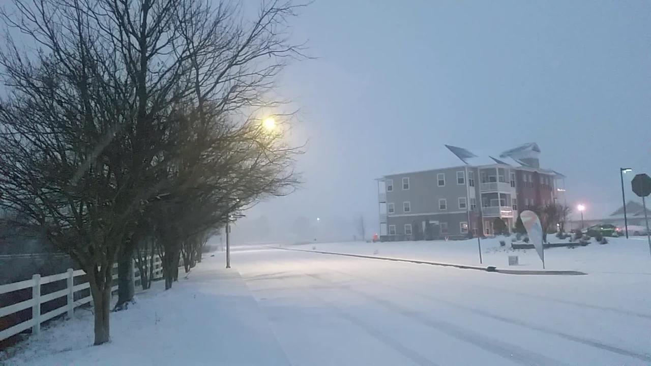 WATCH: Raw video of snow falling in Salisbury