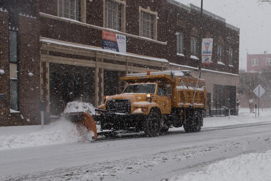 WATCH: Scenes during Downtown Salisbury's Snowstorm