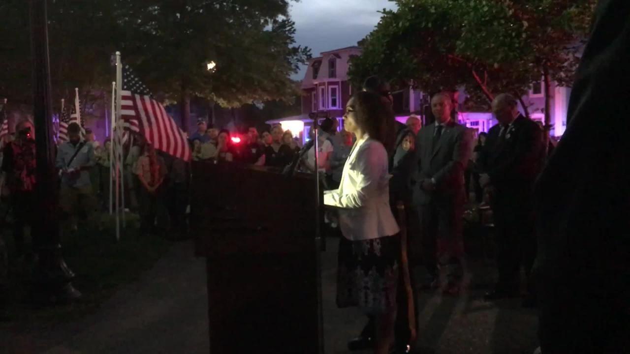 WATCH: Louise Ballard speaks in public for first time
