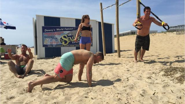 WATCH: Fitness on the beach in Dewey