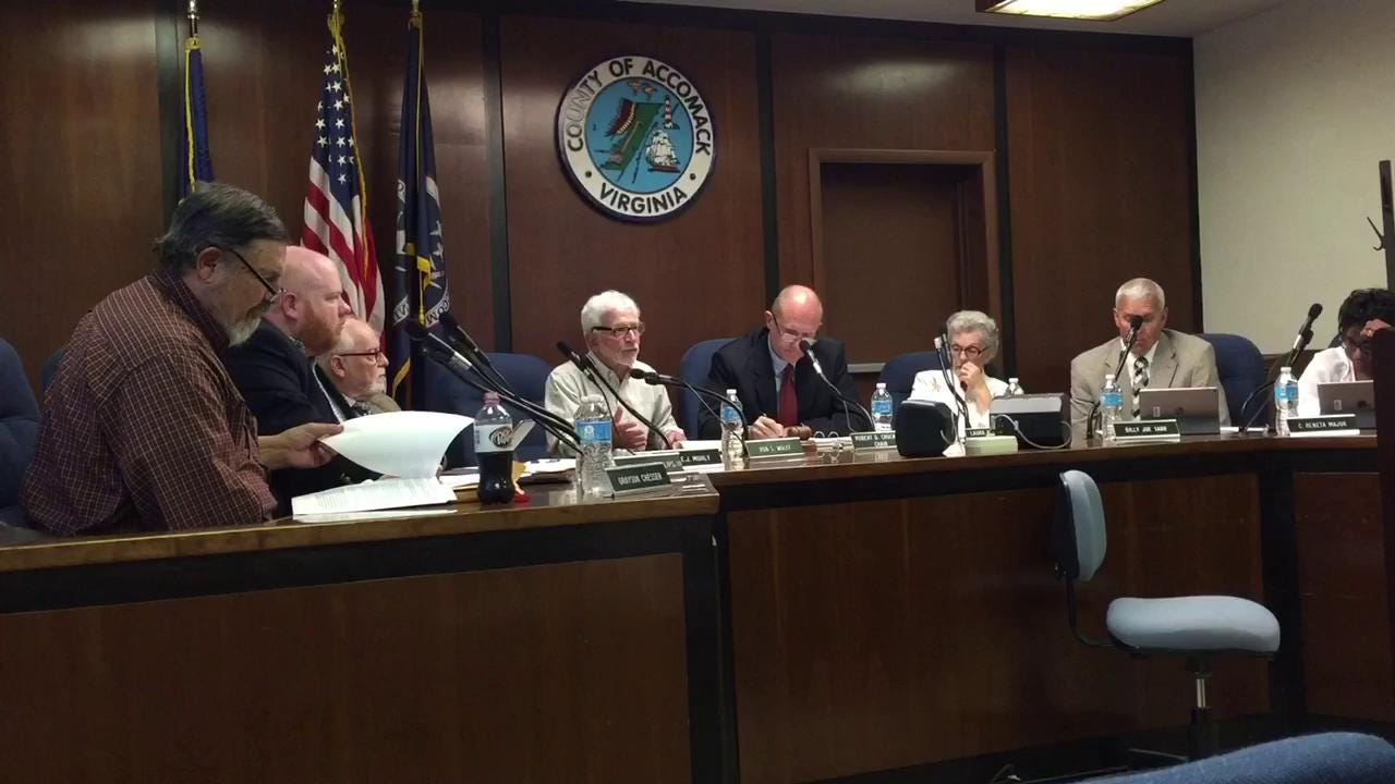 WATCH: Accomack County supervisor speaks againt offshore oil drilling