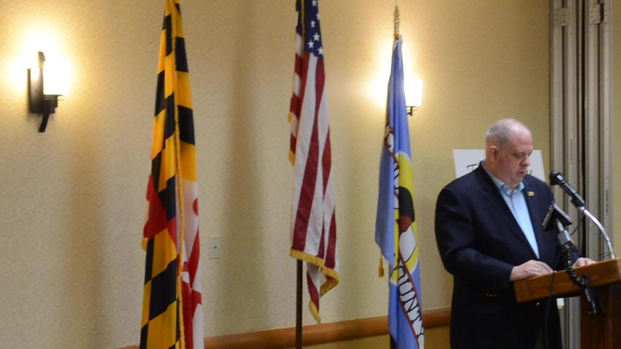 WATCH: Larry Hogan speaks at Salisbury  Area Chamber of Commerce luncheon