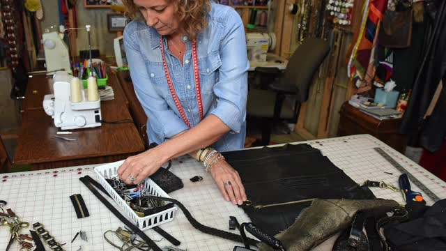 Creating one-of-a-kind, completely repurposed handbags and accessories started as a passion project and turned into a full time job for Janeen Lueders.