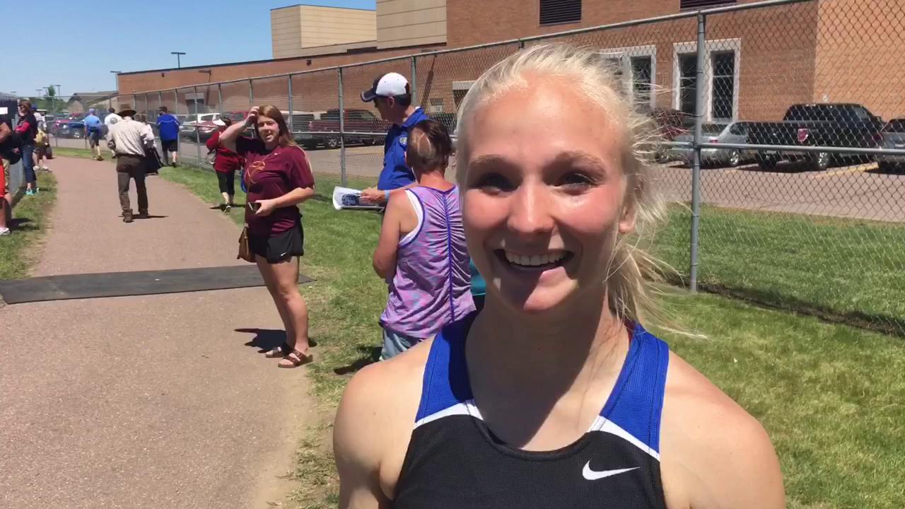 DeWitt wins the long jump