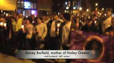 Hailey Owens remembered by thousands