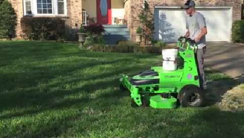 Local Company Says It S First In State Offering Emission Free Mowing