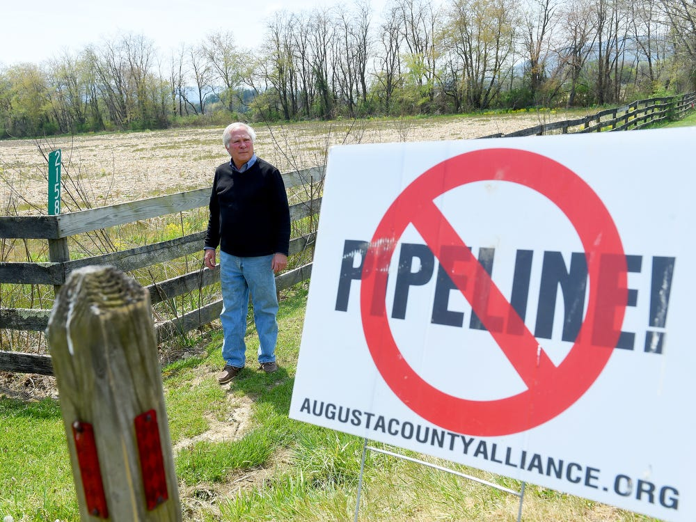 Property belonging to Scott Ballin's family near Deerfield is among property those affected by Dominion's alternate route for their proposed Atlantic Coast Pipeline.