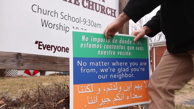 A sign that has become a nationwide symbol of neighborly acceptance had its origins in a Mennonite church in the Shenandoah Valley of Virginia.