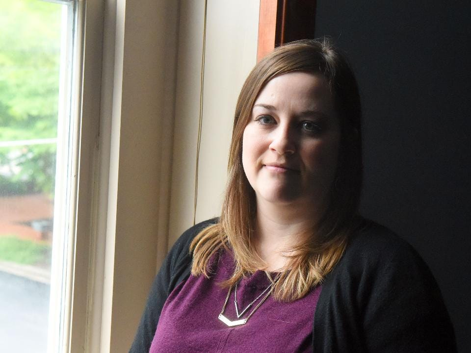 Brooke Anderson of Staunton lost her father, Mark Anderson, to suicide. She now works as a lead volunteer and field advocate for American Foundation for Suicide Prevention.