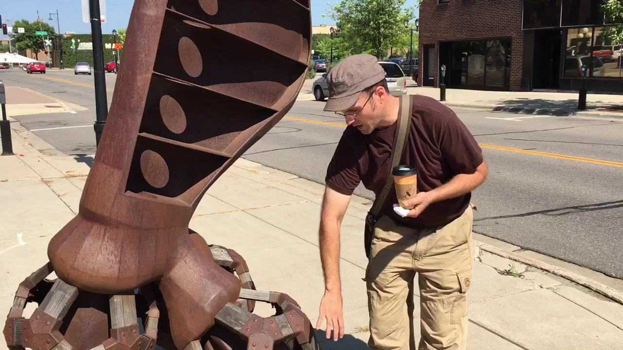 Sauk Rapids sculptor talks about his pieces on Sculpture Walk St. Cloud.