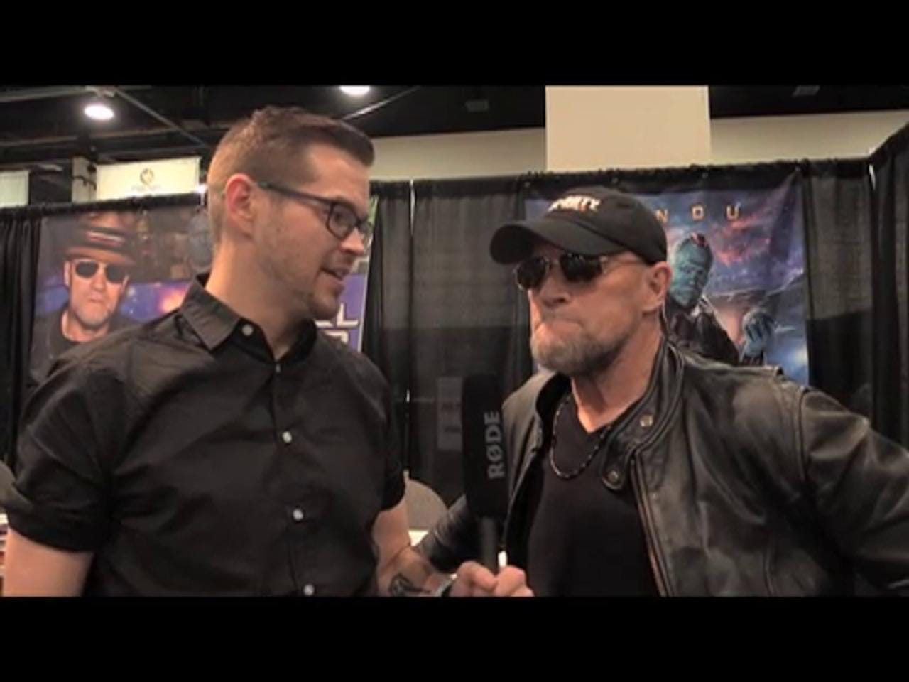 'Guardians of the Galaxy's' Michael Rooker took a break from filming to attend the 2016 Las Vegas Wizard World convention. Although he couldn't divulge secrets about the movie, he did point out he is blue in the film.