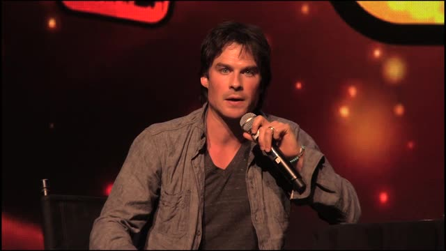 """Ian Somerhalder, known for his role as Damon in """"The Vampire Diaries"""" and Boone in """"Lost,"""" talks to the audience about violence in entertainment, the truthfulness of social media as well as his upcoming plans after the end of """"The Vampire Diaries."""""""