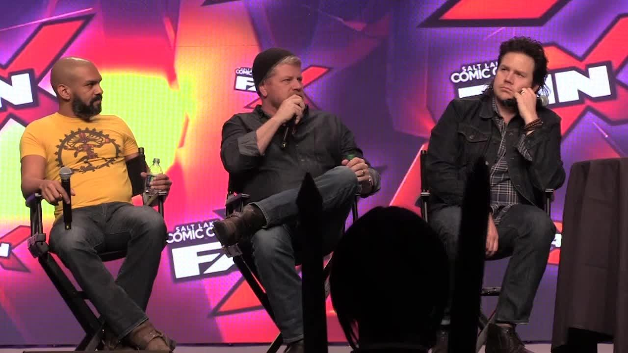 """Khary Payton, Michael Cudlitz and Josh McDermitt talk about character deaths, hopes for upcoming episodes and more in a """"Walking Dead"""" panel at Salt Lake Comic Con Fan Xperience Saturday, March 18, 2017."""