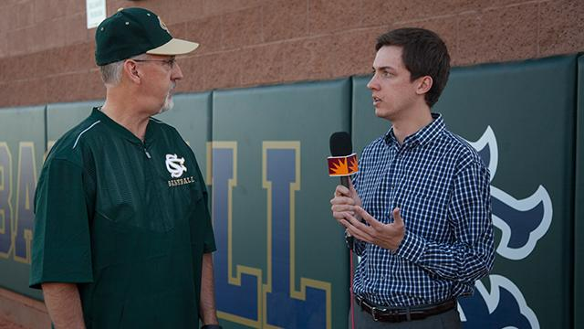 Spectrum Sports Reporter Patrick Carr speaks with Snow Canyon baseball pitching coach Wally Ritchie about pitch limits and proper training Wednesday, March 15, 2017.