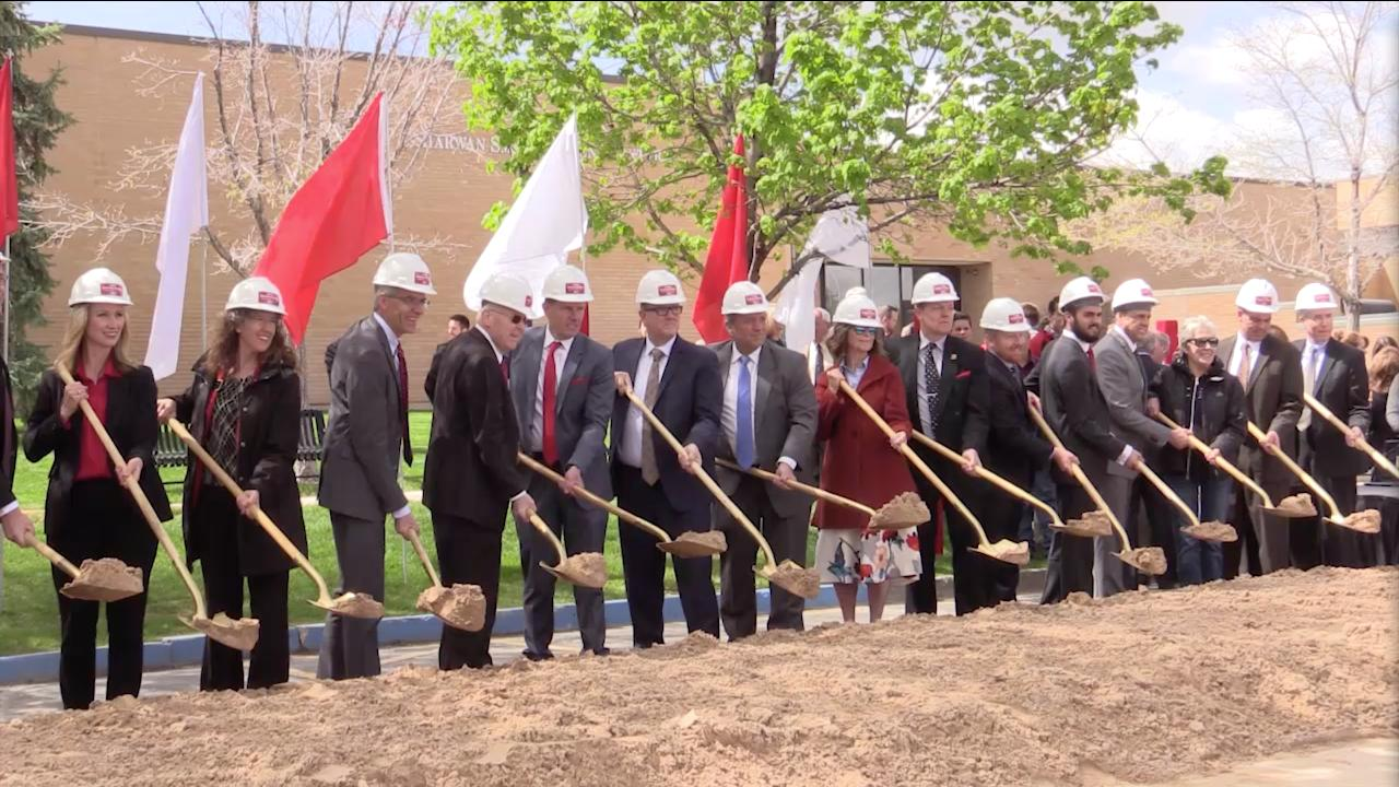 Southern Utah University holds a groundbreaking ceremony for its new business building, April 27, 2017.