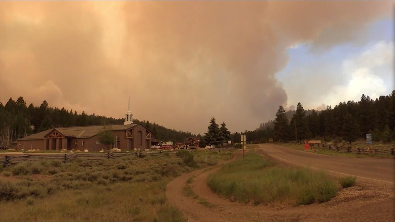 Officials provide a Brian Head Fire update on Saturday evening, June 24, 2017.