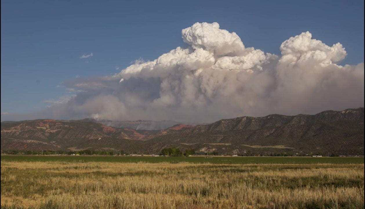 A view of the Brian Head fire on Thursday in Parowan, June 22, 2017.