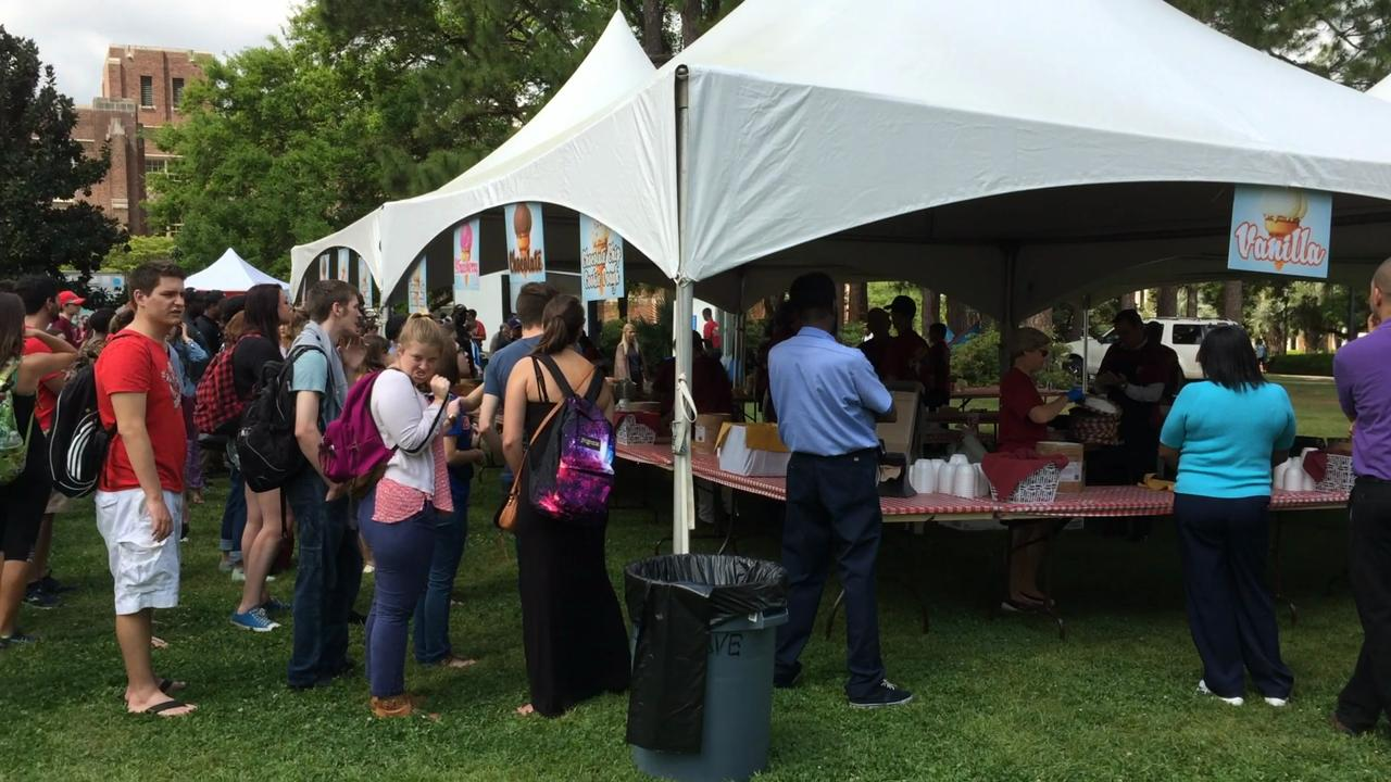 Video of the sights and sounds of the President's Ice Cream Social at FSU.