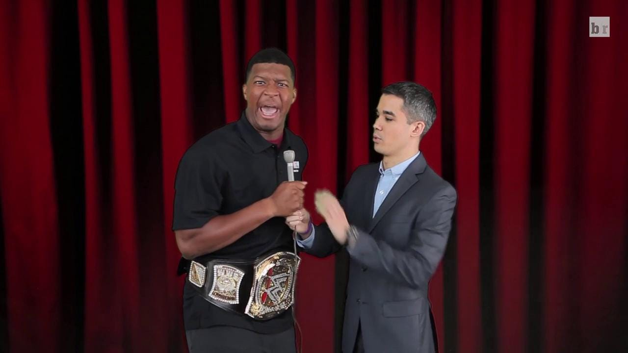 Cut of Jameis Winston's WWE promo for Bleacher Report