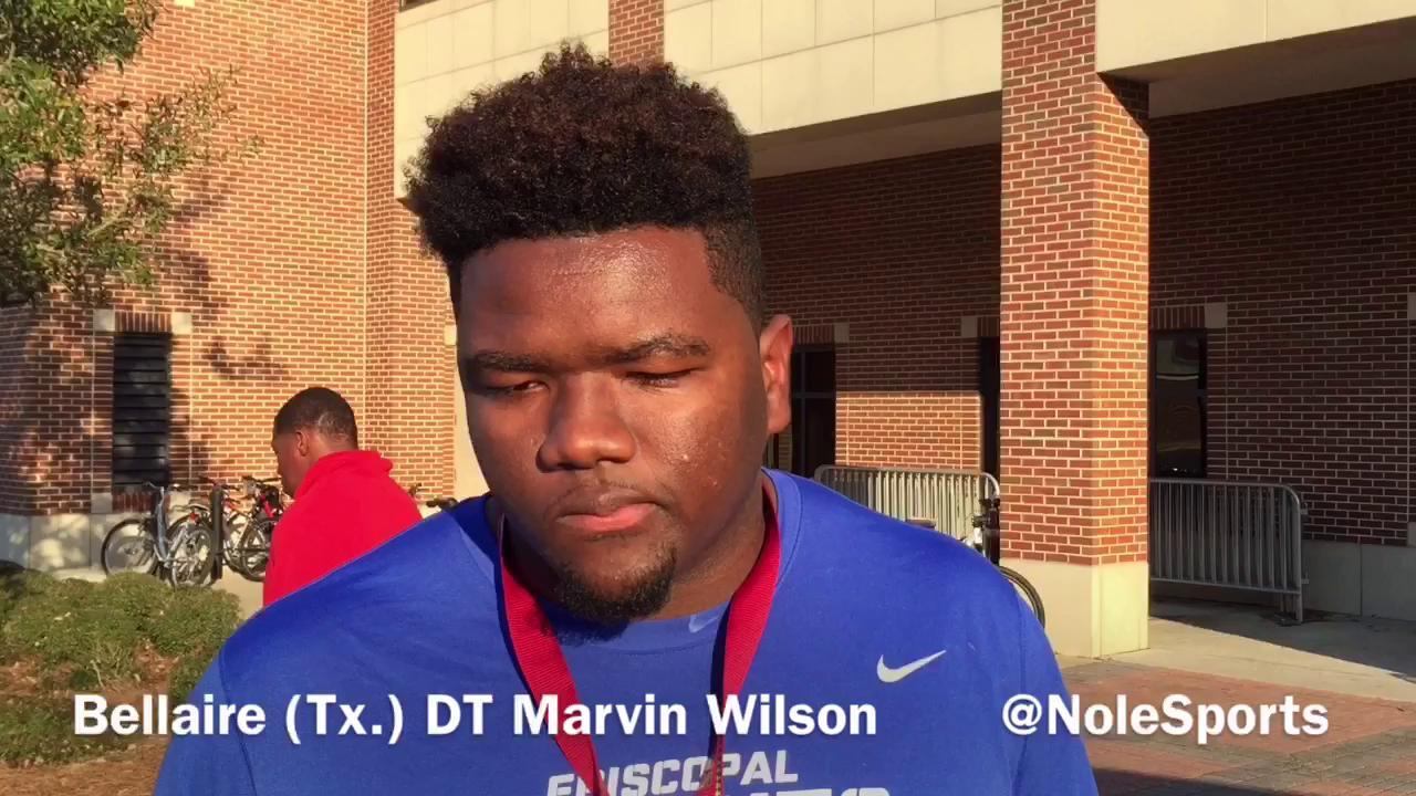 Video: Nation's No. 1 DT Marvin Wilson recaps FSU junior day visit
